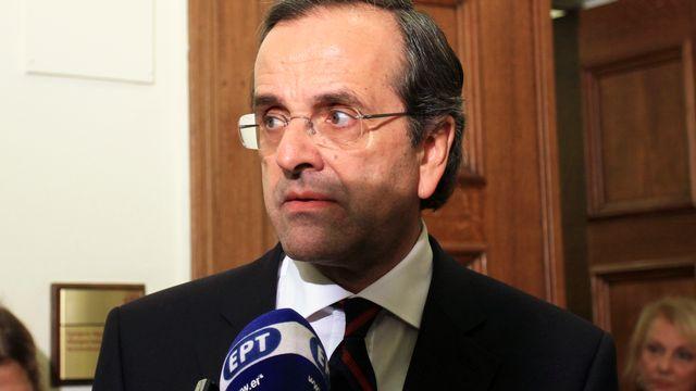Antonis Samaras exige des élections  [Panayiotis Tzamaros - Reuters]
