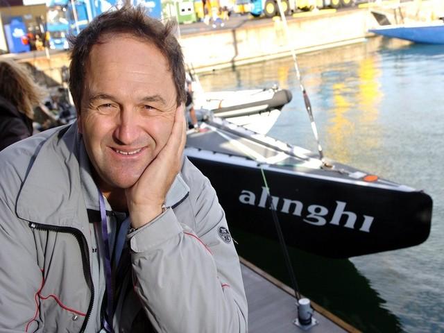 Bertrand Cardis avait aussi construit le bateau du team Alinghi, vainqueur de la coupe de l'America. [Laurent Gilliéron - Keytsone]