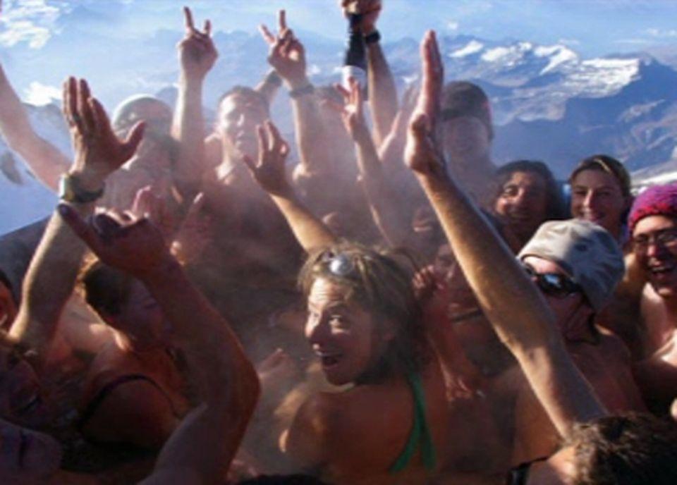 Un jacuzzi sur le Mont-Blanc