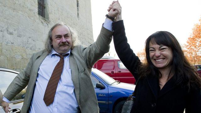 Comme en 2007, les deux candidats de gauche, Géraldine Savary (PS) et Luc Recordon, ont été élus. [Jean-Christophe Bott - Keystone]