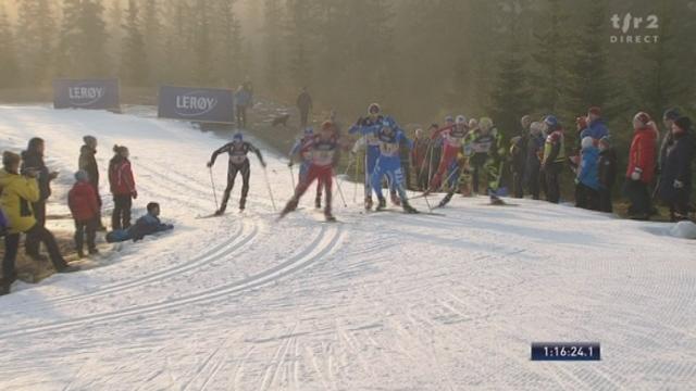 Ski nordique / Coupe du Monde à Sjusjön (NOR): la Suisse, lâchée, réussit la jonction avec les 6 de tête au 3e relais