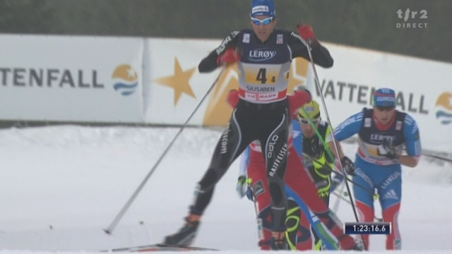 Ski nordique / Coupe du Monde à Sjusjön (NOR): dernier relais. Incroyable mais vrai: la Suisse prend la tête à 5,5 km de l'arrivée!