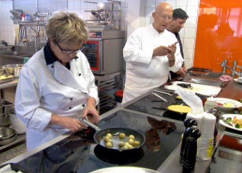 Nos trois cuisiniers à l'oeuvre