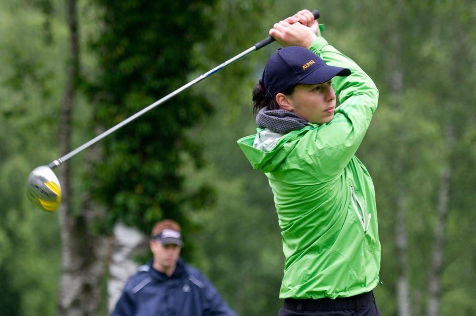 Dominique Gisin est également une très bonne joueuse de golf. [Samuel Truempy - Keystone]