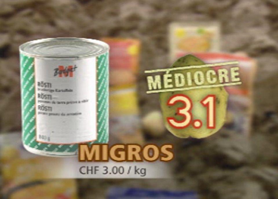 Le Rösti M-Budget en boîte de la Migros