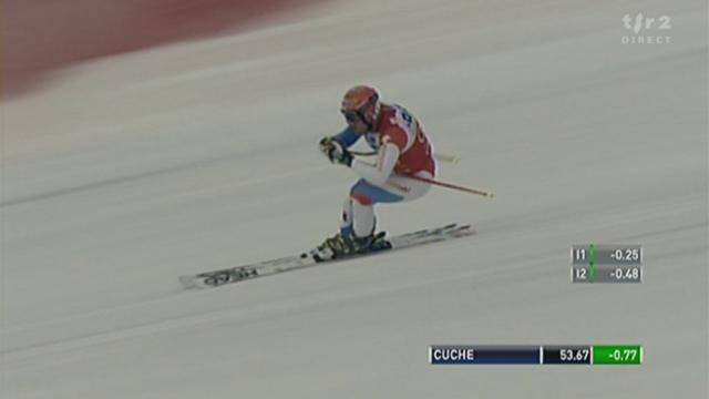 Ski alpin / Descente messieurs Lake Louise: Didier Cuche s'empare de la tête du classement au terme d'une course de grande qualité.