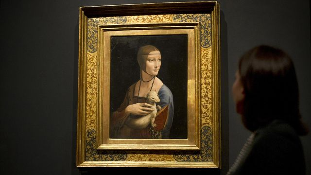 "Vue de l'exposition ""Leonardo da Vinci: Painter at the Court of Milan"", à découvrir à la National Gallery de Londres. [Carl Court - AFP]"