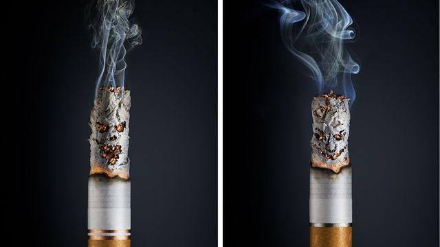 Une cigarette qui semble ne pas vous vouloir que du bien. [Mladen Penev]