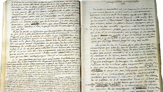 Rousseau manuscrit promeneur [Bibliothèque Publique et Universitaire de Neuchâtel ]