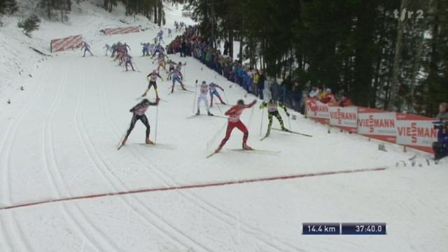 Ski de Fond / Tour de ski:Northug est revenu. Le Norvégien et Cologna dominent leurs adversaires après 37 minutes