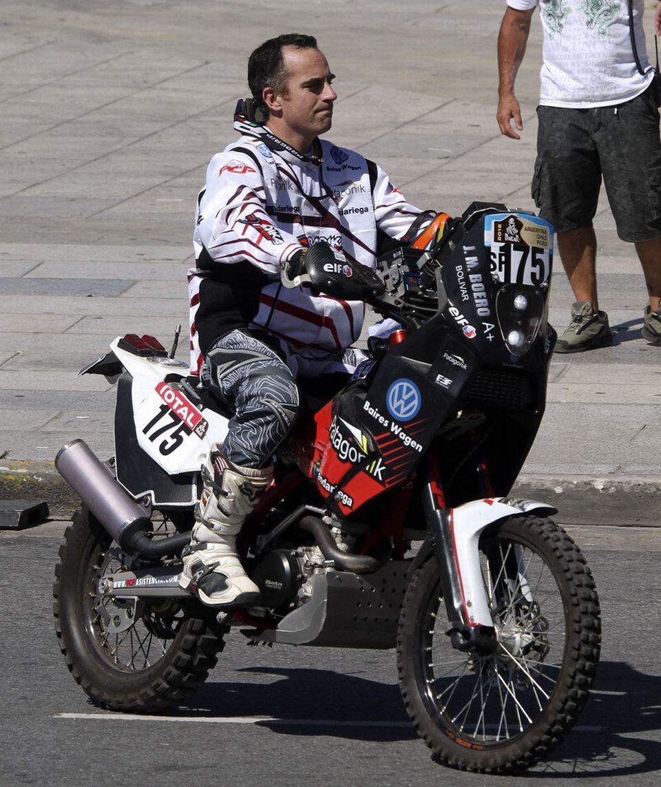 Jorge Martinez Boreo participait à son deuxième rallye Dakar. [Christian Heit  - Keystone]
