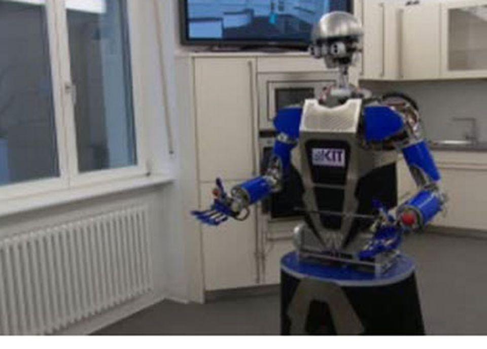 Le robot Armar, de l'Institut Technologique de Karlsruhe.   [RTS]