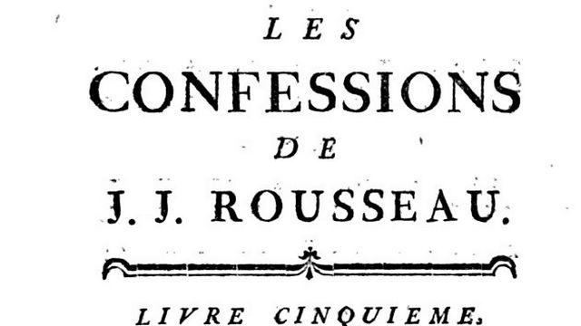 Rousseau Confessions [Collection particulière]