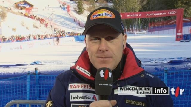 """Election du """"Suisse de l'année 2011"""": entretien avec Didier Cuche, en direct de Wengen (BE)"""