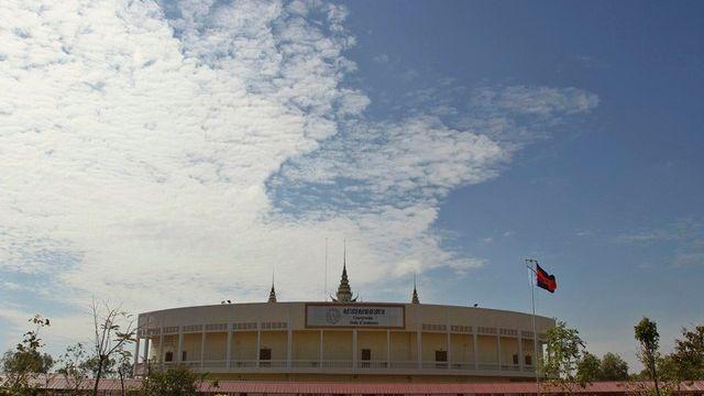 Vue du tribunal lors du procès d'anciens leaders Khmers Rouges en décembre 2011. [Pring Samrang / Reuters]