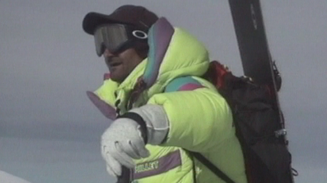 Jean Troillet en 1997 sur l'Everest [Archives TSR]