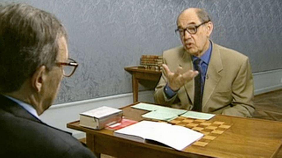 Jean Starobinski reçoit Guillaume Chenevière - RTS archives 2001