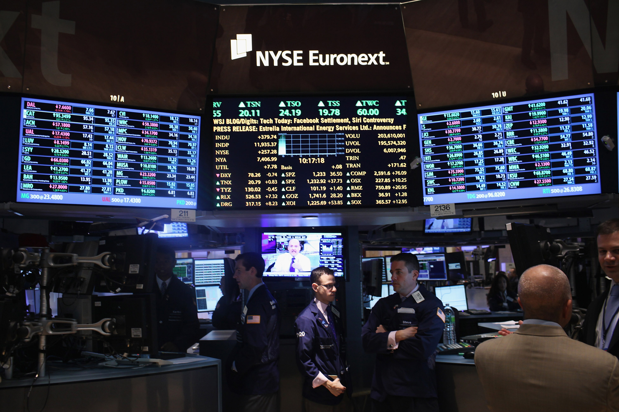 Des traders à la bourse de New-York.