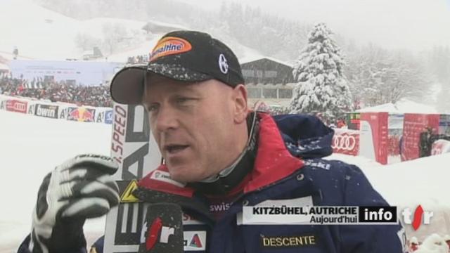Ski alpin / Descente de Kitzbühel: réactions de Didier Cuche après sa course