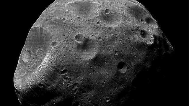 Phobos, satellite de mars. [esa]