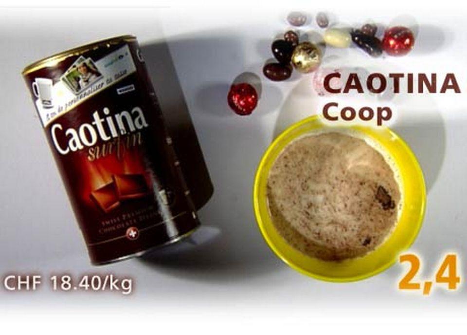 Poudre Caotina, achetée à la Coop. [Daniel Bron/RTS]