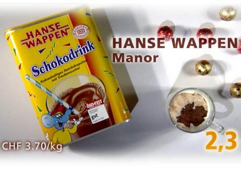 Chocolat Hanse Wappen vendu chez Manor. [Daniel Bron/RTS]