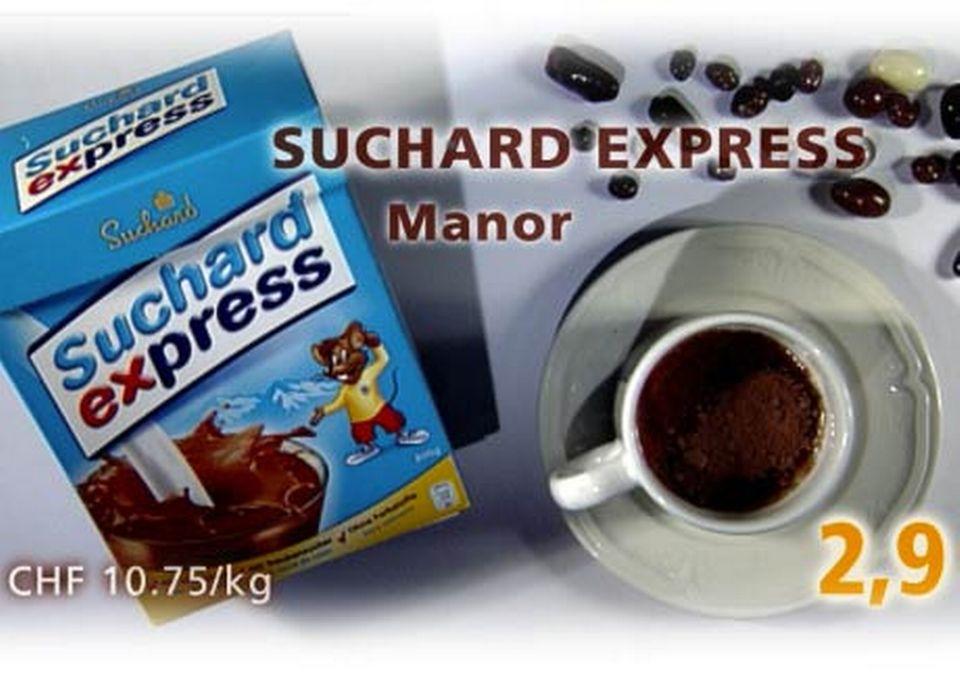 Suchard Express, acheté chez Manor. [Daniel Bron/RTS]