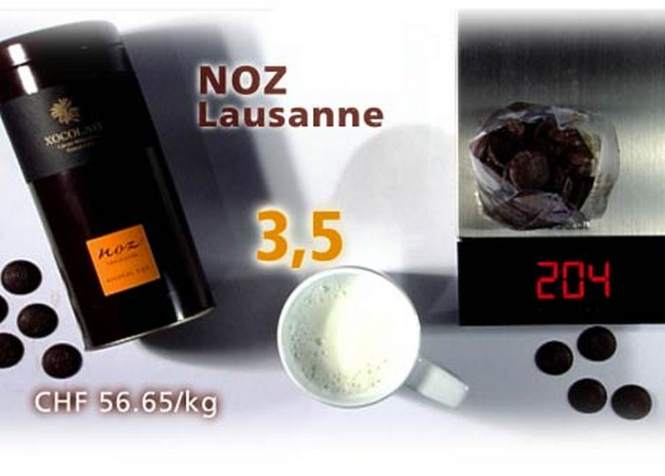 Pastilles de chocolat Noz. [Daniel Bron/RTS]
