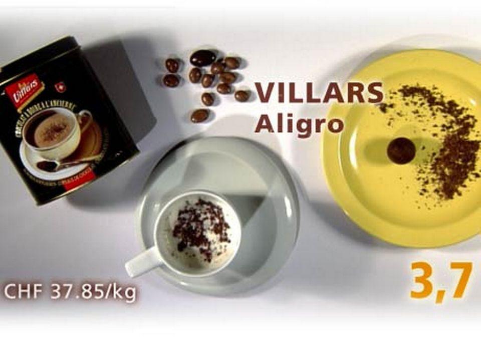 Copeaux de chocolat Villars, achetés chez Aligro. [Daniel Bron/RTS]