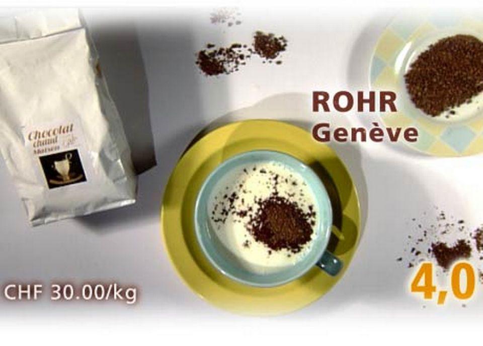 Copeaux de chocolats de la Maison Rohr, à Genève. [Daniel Bron/RTS]