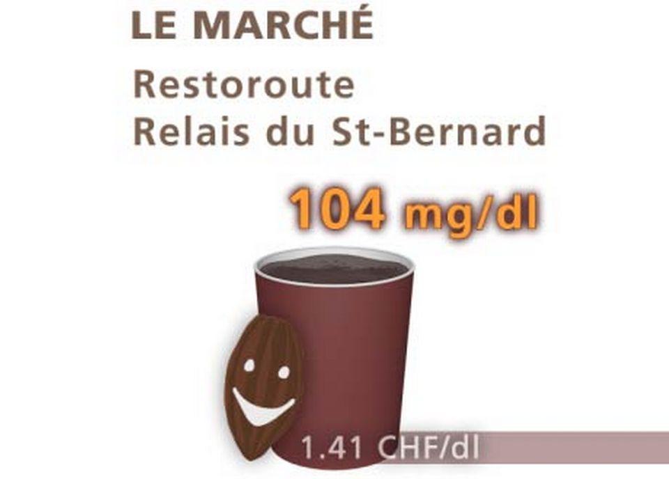 Restaurant Le Marché, du restoroute Relais du St-Bernard. [Daniel Bron/RTS]