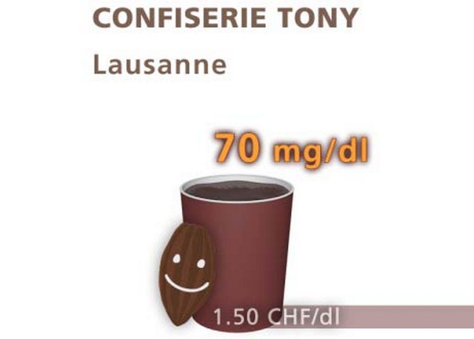 Chocolat de la confiserie Tony, à Lausanne. [Daniel Bron/RTS]