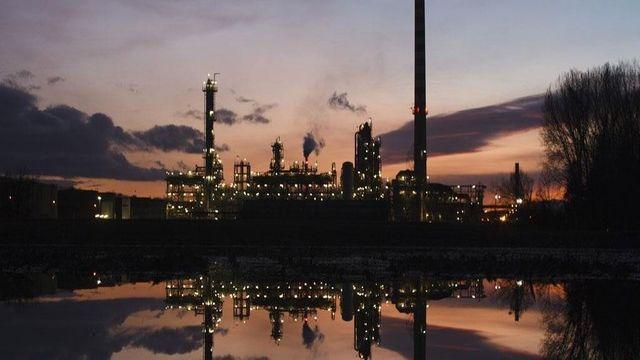 La raffinerie Petroplus de Cressier (NE) début janvier 2012.  [Michael Buholzer / Reuters]