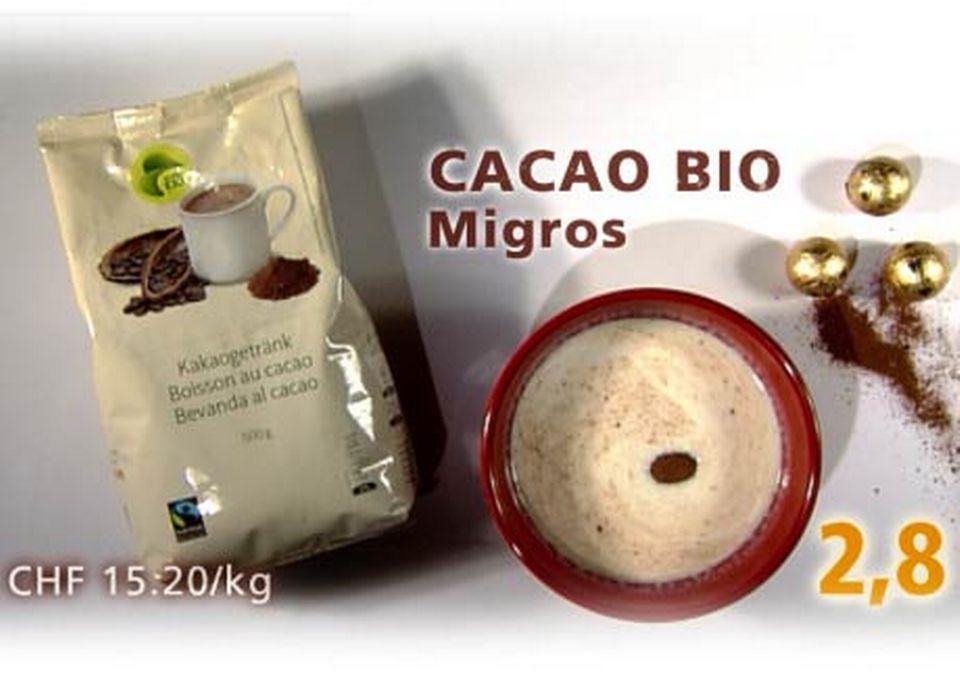 Cacao bio Fairtrade, de Migros. [RTS]