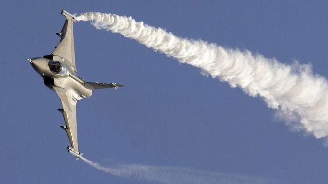 Un avion suédois Gripen. [Laurent Gilliéron - Keystone]