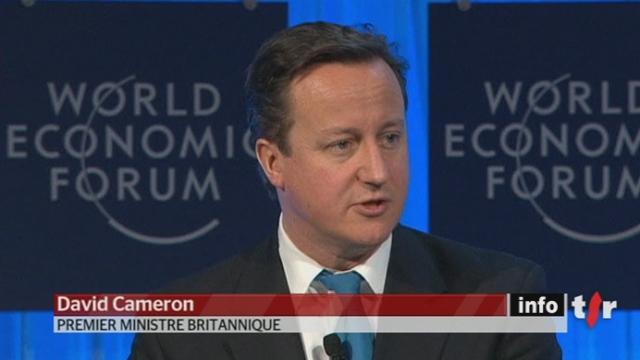 World Economic Forum de Davos : David Cameron fustige la taxe sur les transactions financières défendue par la France et l'Allemagne