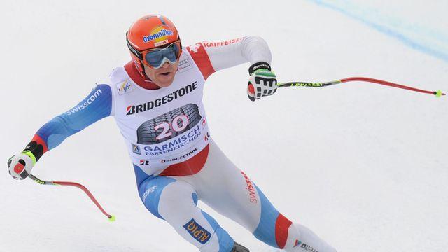 Didier Cuche a créé la surprise lors de la descente du Garmisch. [CHRISTOF STACHE  - AFP]