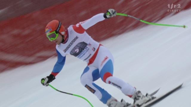 Ski alpin / descente de Garmisch-Partenkirchen (ALL): Patrick Küng (SUI), dossard no 9, signe le 2e chrono provisoire. Silvan Zurbriggen (SUI), dossard 10, déçoit (9e chrono provisoire)