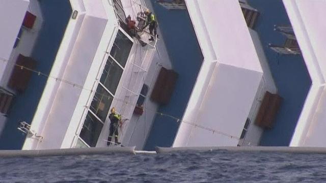 Un corps retrouvé dans l'épave du Concordia samedi