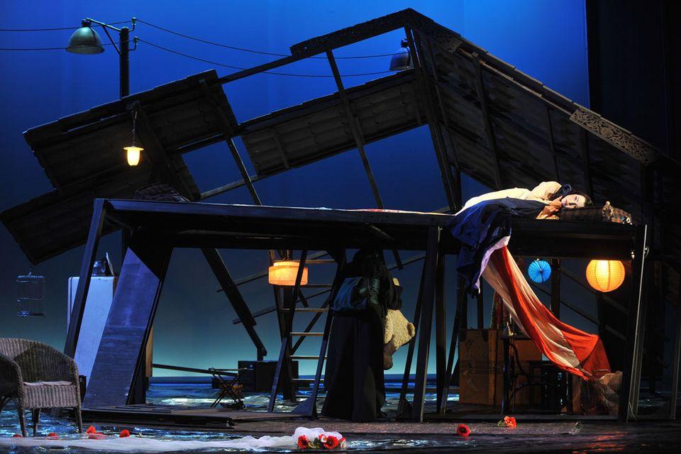 """Représentation de """"Madame Butterfly"""" à l'Opéra de Fribourg, théâtre Équilibre, en 2012. [Alain Wicht/Opéra de Fribourg]"""