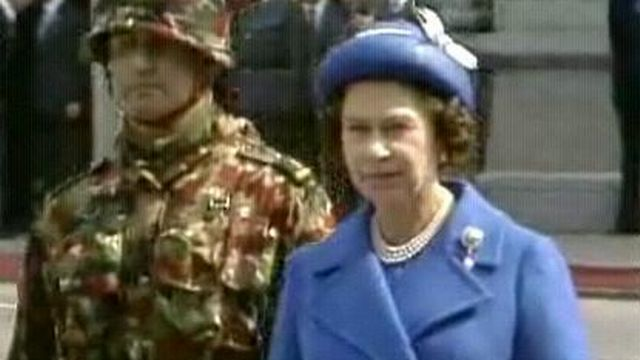 Visite de la reine d'Angleterre  [TSR 1980]