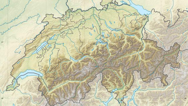 Carte de la Suisse. [Eric Gaba - CC By-SA]