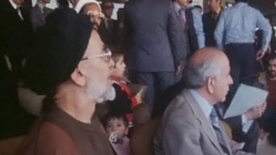 Manifestation pour le nouvel an iranien en 1979.  [RTS]