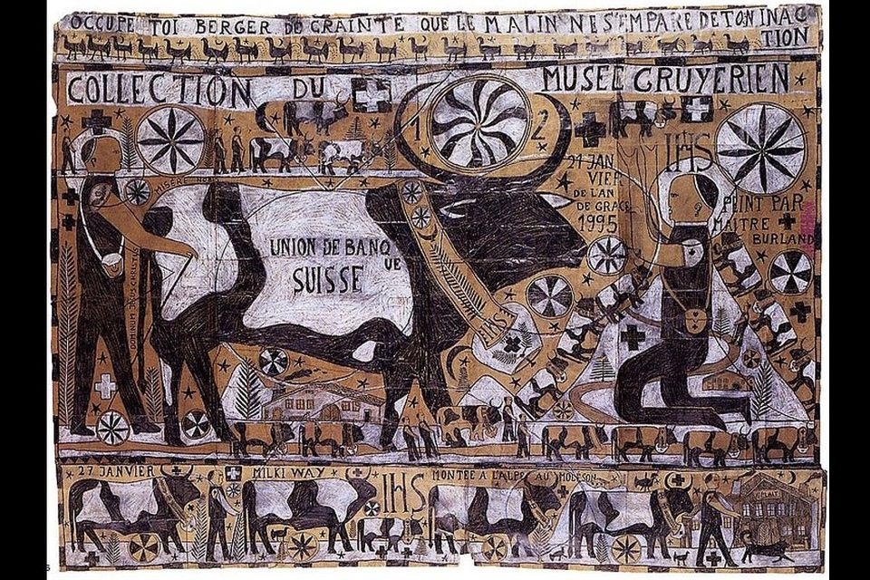 """François Burland, """"Poya"""", 1995, crayon bic sur papier. [DR]"""