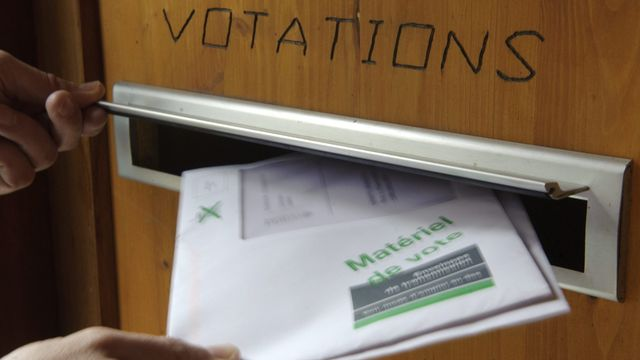 Votations. [Laurent Gillieron - Keystone]