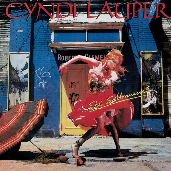 "La pochette de l'album ""She's So Unusual"" de Cyndi Lauper, sorti en 1983."