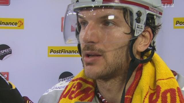 Hockey / LNA (50e j.): itw Mathieu Tschantré (capitaine Bienne) et Morris Trachsler (attaquant Genève-Servette)