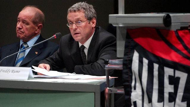 Me Freddy Rumo, avocat et président d'honneur de la Ligue nationale de football. [Sandro Campardo - Keystone]