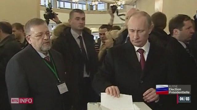 Elections présidentielles russes : comme prévu, Vladimir Poutine devrait largement remporter l'élection