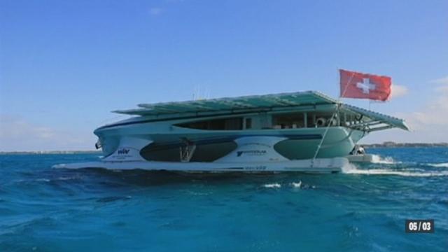 Le bateau solaire suisse PlanetSolar a traversé sans encombre le golfe d'Aden qui regorge de pirates